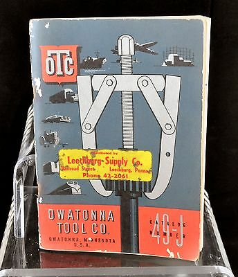 Vintage Owatonna Tool Co Catalog Number 49-J