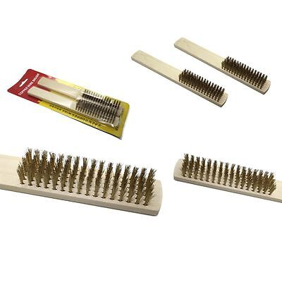 Wire Brush Spark Plug Shoe Boot Cleaner Battery Terminals Solid Copper Head Wire