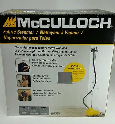 McCulloch Stand Up Steamer Presser MC1407 Fabric Clothes Quilters NEW