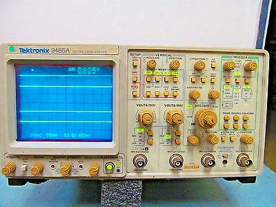 Tektronix   2465A   4 Channel  350Mhz    Oscilloscope (Tested)