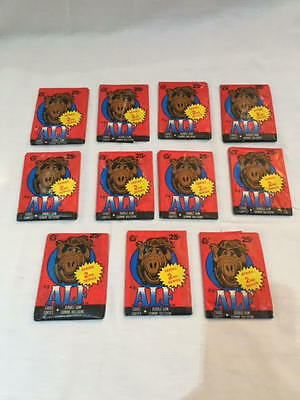 1987 TOPPS ALF SERIES 2 Trading Cards Sealed Wax Pack BUBBLE GUM Lot of 11