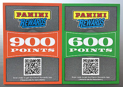 Panini Rewards Points - 1500 Points Unused - Free Electronic Delivery