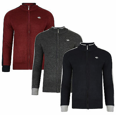 Le Shark New Men's Cardigan Zip Up Front Acrylic Warm Style Knit Cardi Top