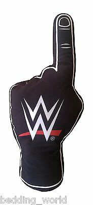 Filled Cushion Wwe Hand Shaped Plush Black White Red World Wrestling Number One