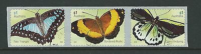 Australia 2016 Butterflies Self Adhesive Coil Set Of 3 Fine Used