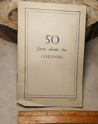 British W.w.2 Pamphlet 1943 50 Facts About The Colonies.