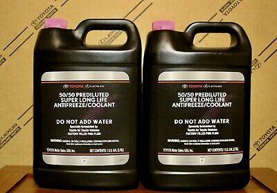 NEW 2 Gallon Toyota Super Long Life  Antifreeze Coolant (FAST SHIPPING)