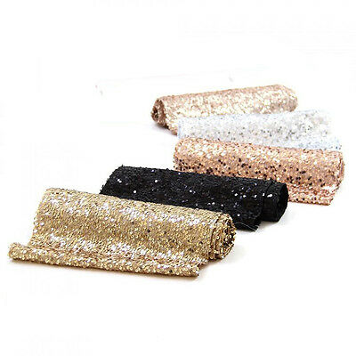 47-108 Inch Oblong Rectangle Sparkle Sequin Table Runner for Wedding Party Event