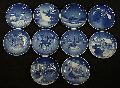 A Complete Run of Bing & Grondahl Christmas Plates, 1960-1969, MELCHIOR ESTATE