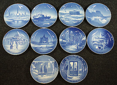 A Complete Run of Bing & Grondahl Christmas Plates, 1950-59, MELCHIOR ESTATE