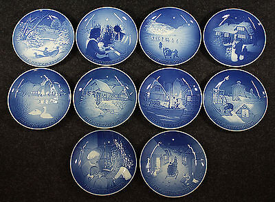 A Complete Run of Bing & Grondahl Christmas Plates, 1970-1979, MELCHIOR ESTATE