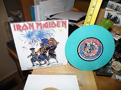 "Iron Maiden 7"" Record Last Night Of Slavery July 5 Irvine Ca. World Tour 1985"