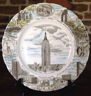 Vintage Collectors Plate Nyc Empire State Bldg. Johnson Bros. England