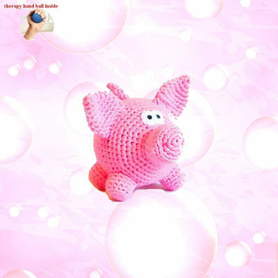 pig soft toy crochet toy foam stress ball for kids crochet animals small gifts
