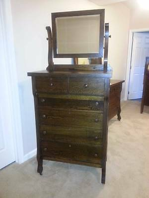 Antique Oak Dresser With Mirror, Local PA Pick Up