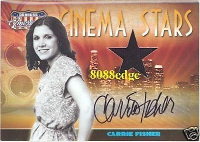 2007 Americana Material Auto: Carrie Fisher #5/25 Autograph Swatch Star Wars