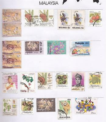 *MALAYSIA.PAGE of USED STAMPS.Lot c.*