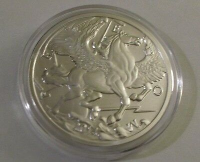 2014 Pegasus Silver 1 oz Round GoldSilver.com in capsule Uncirculated