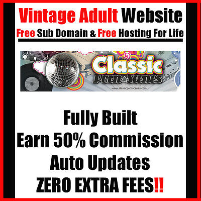 Vintage Adult Website - Fully Built - Auto Updates - Home - Online - Make Money