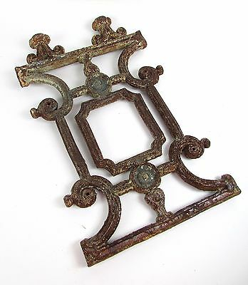"""Vintage Scroll Cast Iron 16.75"""" Inch Tall Architectural Gothic Gate Fence Border"""