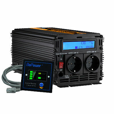 Power Inverter 12V 230V Onda Pura 1000W 2000W Pure sine wave with LCD Display
