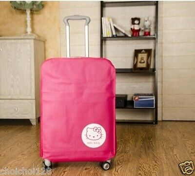 """Hello Kitty Luggage Cover Protector Suitcase Dustproof Cover Fits 24"""" KK281"""