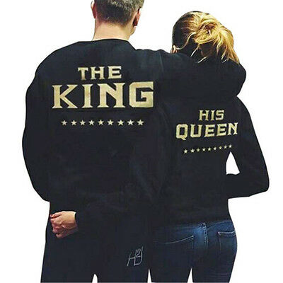 Couple Casual T-Shirt The King And His Queen Love Matching Shirts Couple Tee Top