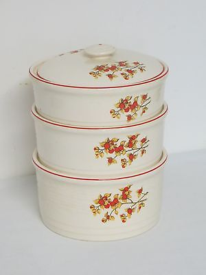 Vintage Universal Potteries Cambridge Bittersweet Stacking Nesting Casserole Lid