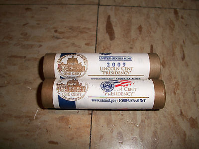 """2009  D and P Rolls Lincoln Cents """"Presidency Years"""" UnCirculated penny pennies"""