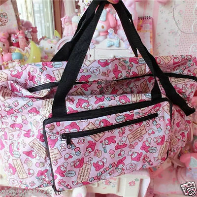 My Melody Travel Big Foldable Waterproof Luggage Bag Carry-On Duffle Bag ML159