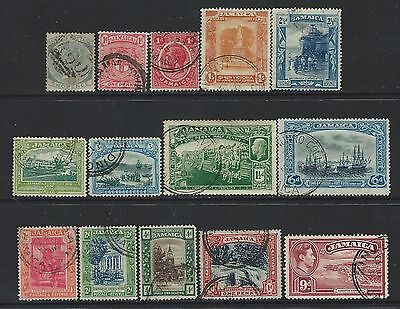 Jamaica - Early Years Used Stamps Lot