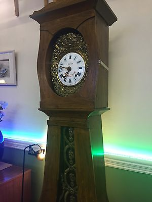 French Pine Long Case Clock Lovely Condition.