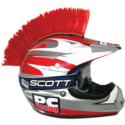 Motorcycle Motocross Ski Skiing / Sports Helmet RED Mohawk. Tested to 200 MPH