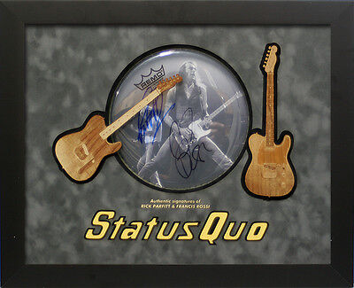 Rick Parfitt and Francis Rossi Signed Status Quo Drum Skin display