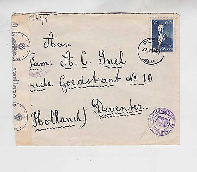 1942 cover with one stamp,examined by germany ..     g608