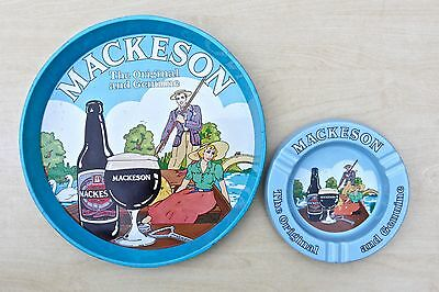 Vintage Whitbread Mackeson Stout Pictorial Advertising Brewery Tray & Ashtray