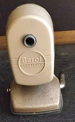 Vintage Berol Pencil Sharpener Table Mount with Vacuhold Suction