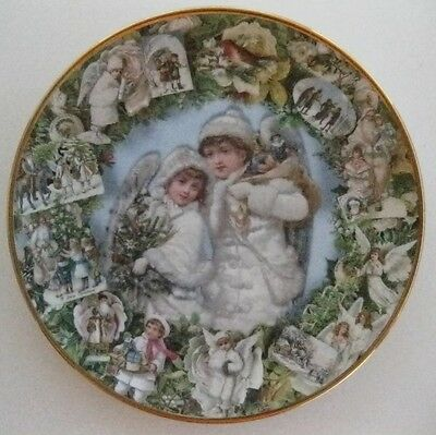 "Hamilton Collection ""Christmas Angels"" 8"" Collector Plate Mint!"