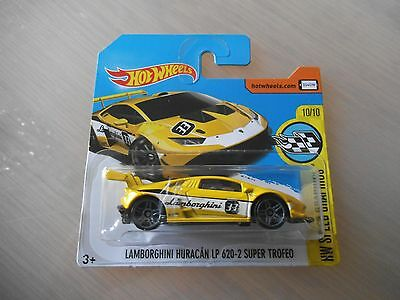 hotwheels 2016 lamborghini huracan lp 620 2 super trofeo mint in short card. Black Bedroom Furniture Sets. Home Design Ideas