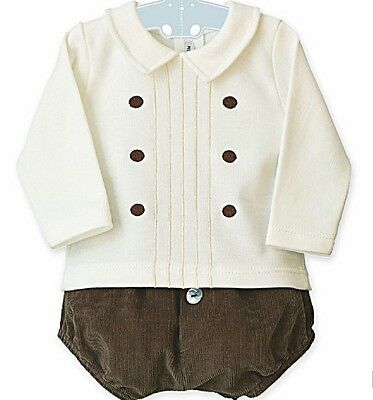 Beautiful Spanish designed and made baby boys two piece comes boxed ideal gift
