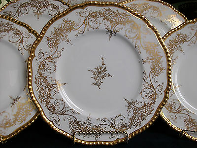 COALPORT- ADORATION #9681-c.1950's- DINNER PLATE(S)- EXCELLENT!! RARE!! GILT!!