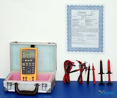 Fluke 724 Temperature Calibrator - NIST Calibrated with Fluke Leads + Warranty
