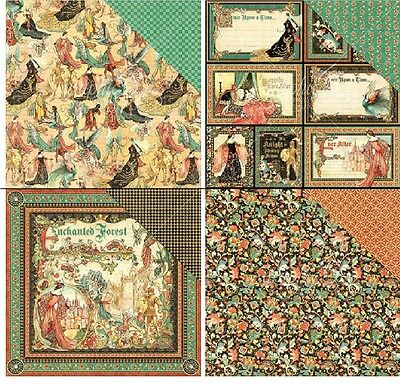 "Graphic45 Enchanted Forest Double-Sided Cardstock 12"" doppels Scrappapier 30,5cm"