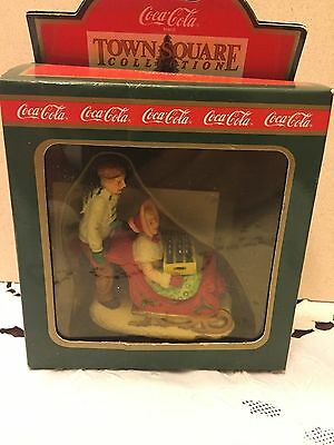 Coca-Cola Town Square Collection #64325 - Sledders in the Snow - 1994 NIB