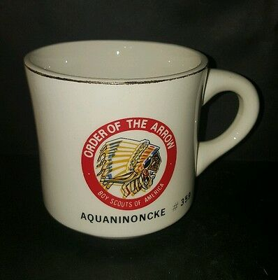 Vtg BSA Order of the Arrow Aquaninoncke 359 Boy Scout Coffee Cup