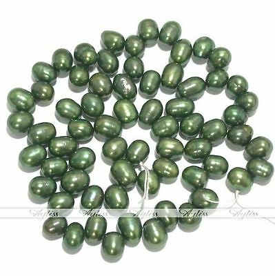 """7-8mm Cultured Freshwater Pearl Oval Loose Beads 15""""L"""