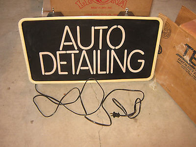 Auto Detailing Lighted Sign with Original Box