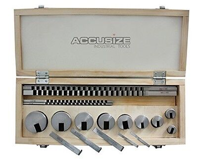 Accusize Industrial Tools Accusize - No.10 18 ps/set HSS Keyway Broach Sets in