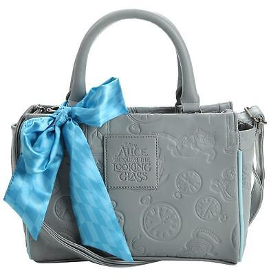 LOUNGEFLY DISNEY ALICE THROUGH THE LOOKING GLASS EMBOSSED BARREL BAG NEW w TAG