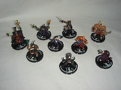 """Mage Knight """"Dungeon"""" - Set of 9 Unique / Hero Mage Spawn - Miniature D&D"""